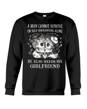 QUARANTINED ALONE LONG SLEEVES T-SHIRT Crewneck Sweatshirt thumbnail