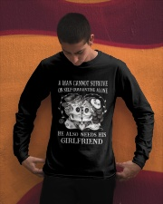 QUARANTINED ALONE LONG SLEEVES T-SHIRT Long Sleeve Tee apparel-long-sleeve-tee-lifestyle-01