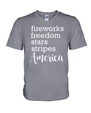 Great idea for Independence Day V-Neck T-Shirt thumbnail
