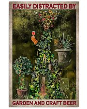 Easily Distracted By Garden And Craft Beer 16x24 Poster front