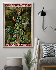Easily Distracted By Garden And Craft Beer 16x24 Poster lifestyle-poster-1