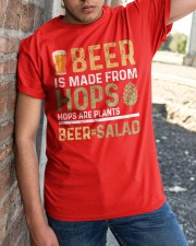 BEER IS MADE FROM HOPS  Classic T-Shirt apparel-classic-tshirt-lifestyle-27