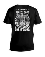 A LIFE BEHIND BAR V-Neck T-Shirt thumbnail