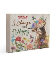 Today I choose to be happy 14x11 Gallery Wrapped Canvas Prints front