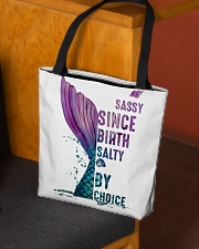 SASSY SINCE BIRTH - SALTY BY CHOICE All-over Tote aos-all-over-tote-lifestyle-front-02