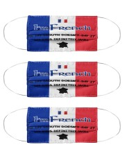 I'm French My Eyes Definitely Say It  Cloth Face Mask - 3 Pack front