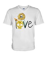 SKULL LOVE T-SHIRT   V-Neck T-Shirt thumbnail