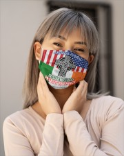 American By Birth Irish By Blood Patriot By Choice Cloth Face Mask - 3 Pack aos-face-mask-lifestyle-17