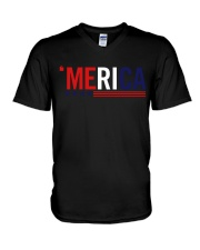 'MERICA - 3 LINES V-Neck T-Shirt thumbnail