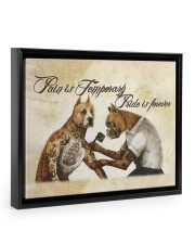 Pain Is Temporary 14x11 Black Floating Framed Canvas Prints front