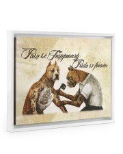 Pain Is Temporary 14x11 White Floating Framed Canvas Prints thumbnail