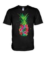 FLOWER PINEAPPLE V-Neck T-Shirt thumbnail