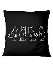 UN DEUX TROIS CAT Square Pillowcase thumbnail