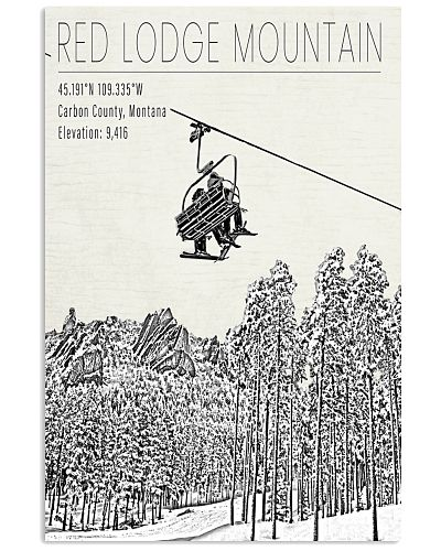 RED LODGE MOUNTAIN POSTER