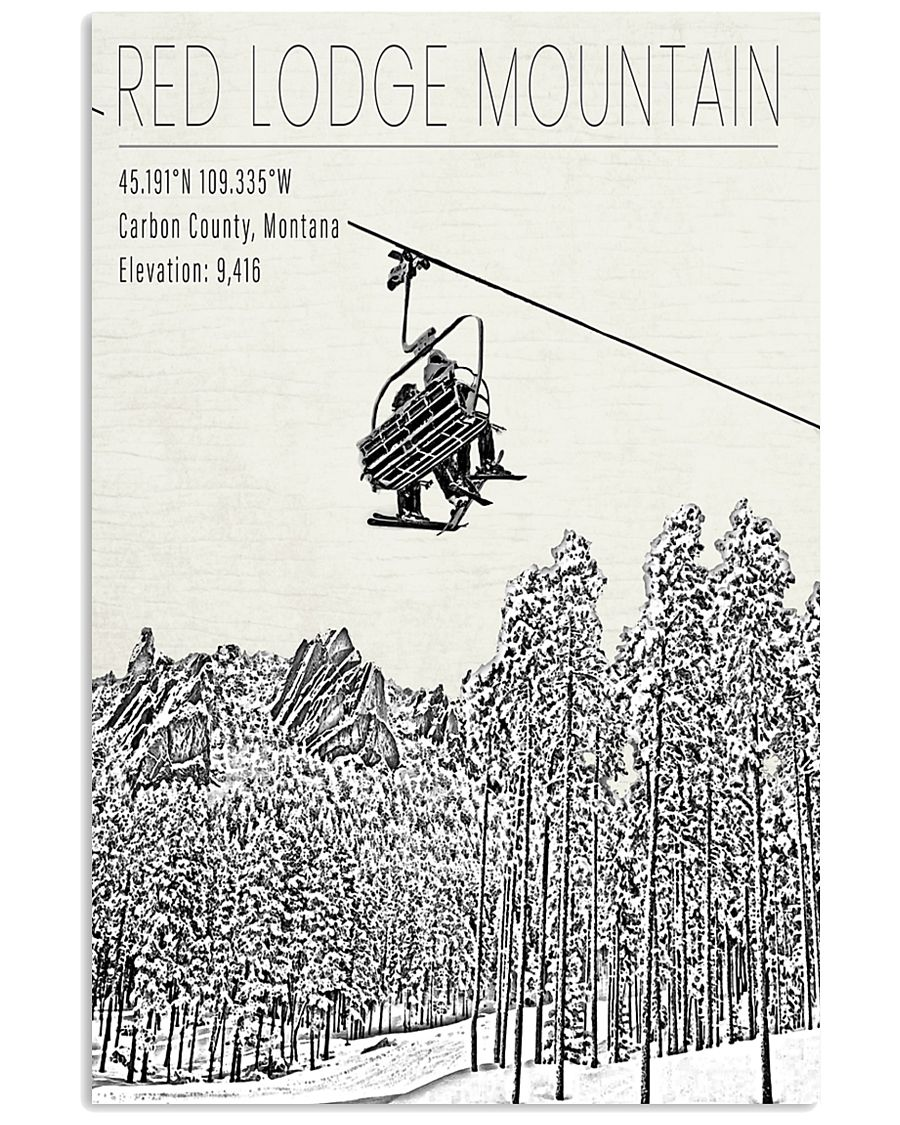 RED LODGE MOUNTAIN POSTER 16x24 Poster