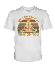 EFF YOU 2 T-SHIRT V-Neck T-Shirt thumbnail