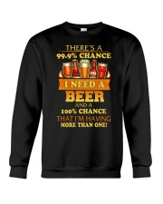 I'M HAVING MORE THAN ONE BEER Crewneck Sweatshirt thumbnail