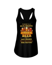 I'M HAVING MORE THAN ONE BEER Ladies Flowy Tank thumbnail