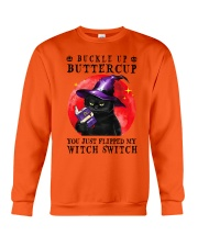 Buckle Up Cat Crewneck Sweatshirt thumbnail