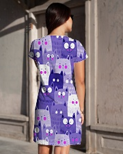 PURPLE CAT - DRESS 3D All-over Dress aos-dress-back-lifestyle-1