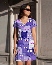 PURPLE CAT - DRESS 3D All-over Dress aos-dress-front-lifestyle-1