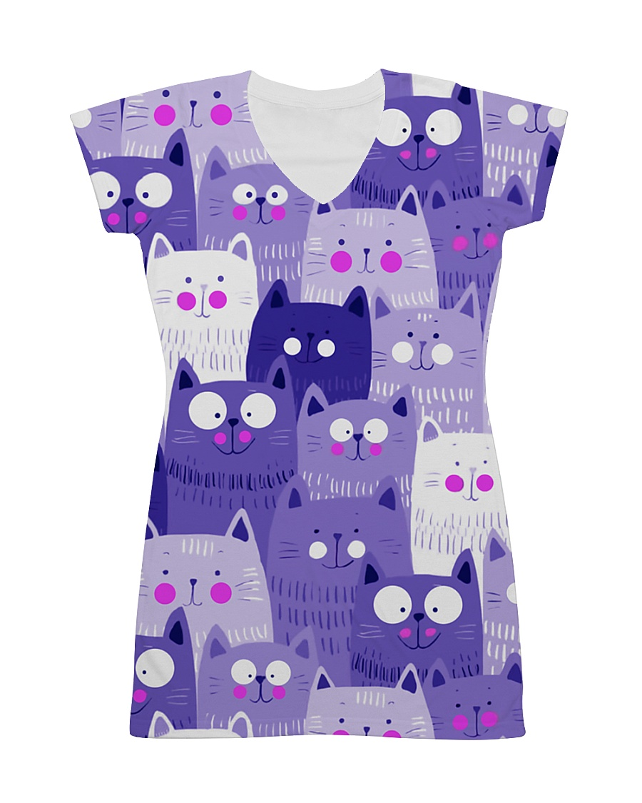 PURPLE CAT - DRESS 3D All-over Dress