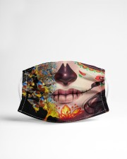 SUGAR SKULL BUTTERFLY Cloth Face Mask - 3 Pack aos-face-mask-lifestyle-22