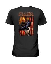 BIKER FLAG T-SHIRT Ladies T-Shirt thumbnail
