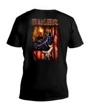 BIKER FLAG T-SHIRT V-Neck T-Shirt thumbnail