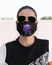 Skull - Floral - 2 Cloth face mask aos-face-mask-lifestyle-02