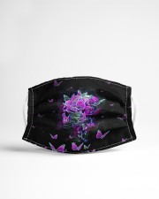 Skull - Floral - 2 Cloth face mask aos-face-mask-lifestyle-22