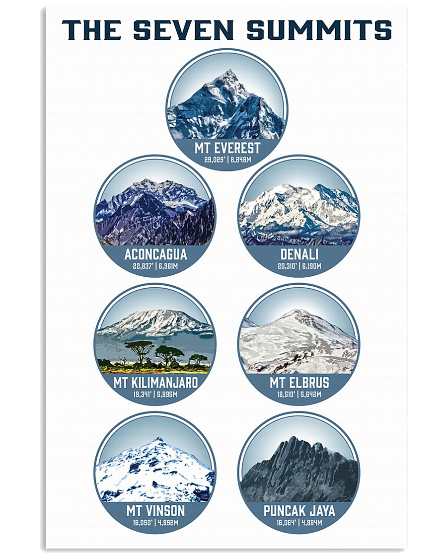 THE SEVEN SUMMITS 11x17 Poster
