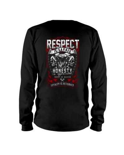 BIKER RESPECT IS EARNED T-SHIRT