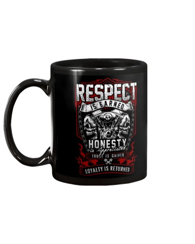 BIKER RESPECT IS EARNED T-SHIRT