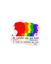 LOVE IS LOVE 4 Sticker - 2 pack (Horizontal) front