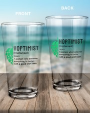 Hoptimist - M 16oz Pint Glass aos-16oz-pint-glass-lifestyle-front-17