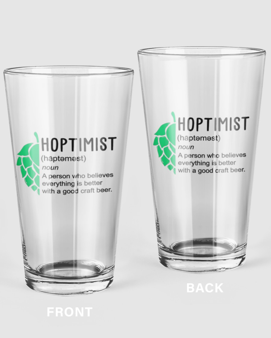 Hoptimist - M 16oz Pint Glass