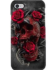 Skull red rose Phone Case i-phone-7-case
