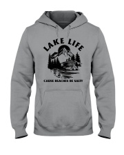 LAKE LIFE CAUSE BEACHES BE SALTY Hooded Sweatshirt tile