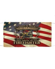 Firefighter life 4 Cloth face mask front