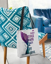 SASSY SINCE BIRTH - SALTY BY CHOICE All-over Tote aos-all-over-tote-lifestyle-front-01