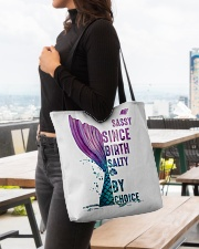 SASSY SINCE BIRTH - SALTY BY CHOICE All-over Tote aos-all-over-tote-lifestyle-front-04
