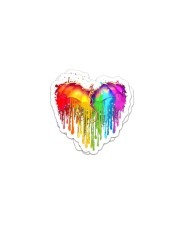LOVE IS LOVE 10 Sticker - 2 pack (Horizontal) front