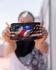AMERICA PUERTO RICO FLAG Cloth face mask aos-face-mask-lifestyle-07