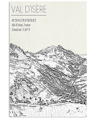 EUROPE VAL DISERE POSTER