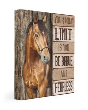 Be brave and fearless 11x14 Gallery Wrapped Canvas Prints front
