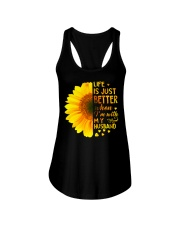 LIFE BETTER WITH SUNFLOWER Ladies Flowy Tank thumbnail