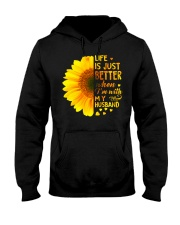 LIFE BETTER WITH SUNFLOWER Hooded Sweatshirt thumbnail