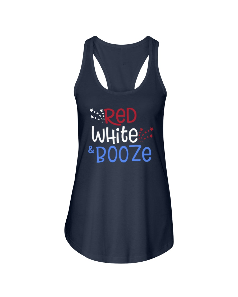 RED WHITE AND BOOZE Ladies Flowy Tank