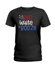 RED WHITE AND BOOZE Ladies T-Shirt thumbnail